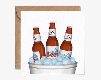 Beer - Blank Card - Greeting Card - Folio - Birthday Card - thisisfolio - Stationery