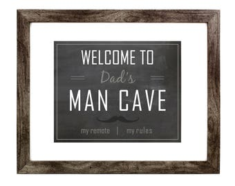 Welcome to the Man Cave Print | Man Cave | Father's Day | Digital Print | Print | Wall Art