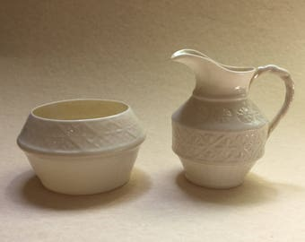 Vintage Cleary Sugar Bowl and Creamer