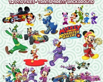 Disney Junior Clipart, Mickey and Roadster Racers PNG, Mickey and Minnie Mouse PNG, Disney Files,    Instant Download 38