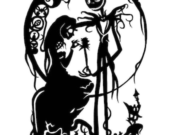 Nightmare before Christmas, Jack and Sally decal.