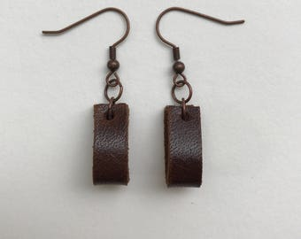 The Paula/Small Leather Loop Earrings