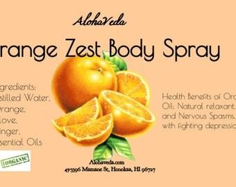 Orange Zest Body Spray