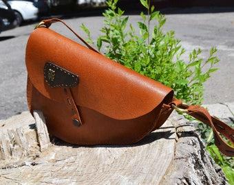 Leather Shoulder Bag, Woman Tan Leather Handbag, Messenger Bag Woman, Shoulder Bag, Leather Messenger Bag, Woman Handbag, Shoulder Purse