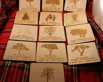 Celtic Tree of life  Astrology Coaster which Celtic Tree are you