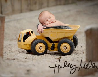 On Sale! Newborn Digital Backdrop/Prop/Dump Truck/Boy