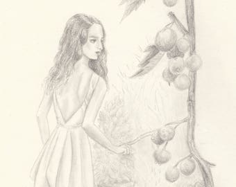Water Nymph (pencil on paper)