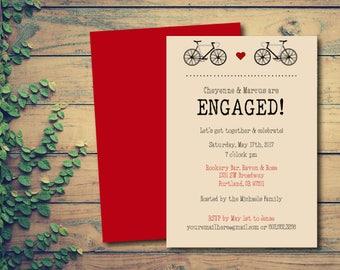 Raven - Engagement Invitation - Printable Engagement Invitation - DIY Invitation - Hipster Engagement Invitation - Print at Home - Digital