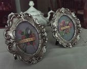 Matching Spoon Art in Round Frames