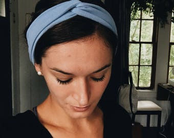 powder blue knot headband