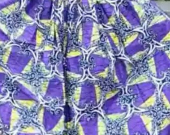 African print flay skirt with pocket, African maxi skirt, Ankara print, African clothing