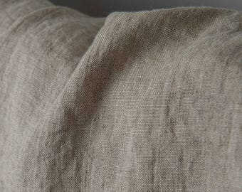 Linen fabric, washed linen, 210gsm. Natural gray color. Linen fabric by the meters, linen by the yard