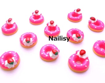 1 cabochon 18mm REF1512 Strawberry donuts
