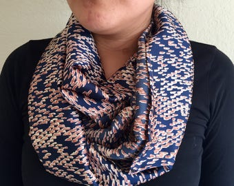Blue Accent Infinity Scarf
