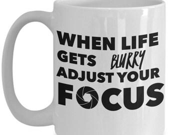 Coffee Mugs for Photographers - Photographer Gifts - 11oz / 15 oz Photograph Cup - Mugs for photographers - Funny Coffee Mug