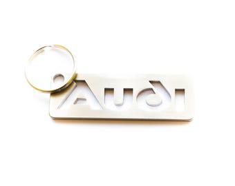 AUDI stainless steel hand polished keychain