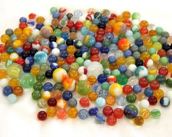 Over 200 Vintage Marbles with Shooters