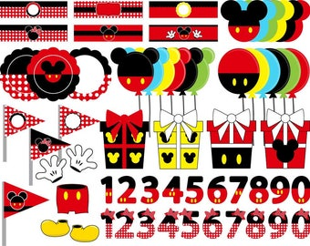 Mickey and Minnie  - Cutting Files Svg Png Eps JPG Digital Graphic Design Instant Download Commercial Use