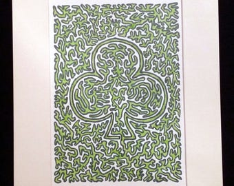 Shamrock 1.0 - Original Artwork, Clover, Green
