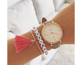 FLAMINGO bracelet & boho trailer