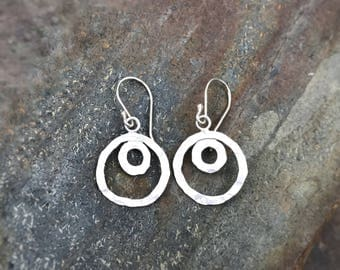 Sterling earrings, circles collection
