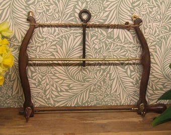 Victorian bow saw coat hanger