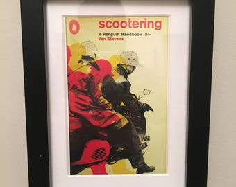 Classic Penguin Book cover print- framed - Scootering
