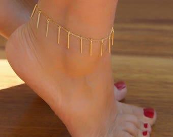 Silver Anklet | Boho Anklet | Beaded Anklet | Ankle Bracelet |Gold Anklet | Anklet with Charms | Silver Ankle Bracelet| Gift For Her