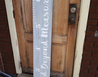 Loved Beyond Measure, Growth Chart, Ruler, Tall Growth Chart, Growth Chart for Tall People