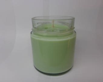 Green Apple scented soy vegetable wax.