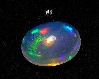 Multi Fire Natural Ethiopian Opal Cab Oval 1.95Cts. Cabochon Loose Gemstone