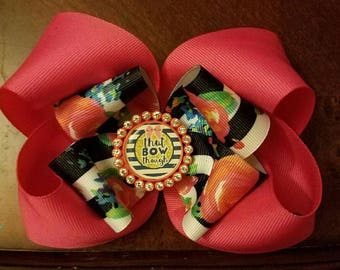 Twisted Boutique Hair bow...large hair bow...hair bows..hair bow..pink hair bow