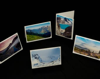 Set of Five Blank Photo Cards, Original Landscape Photography by Bobby Olsen (Adventure Pack #3)