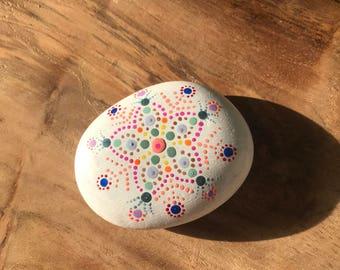 Mandala Stone - white