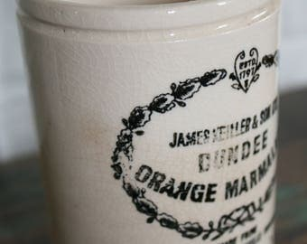 Vintage Ironstone Marmalade Crock / English Ironstone / Vintage Ironstone / Farmhouse Decor