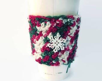 Coffee cozy, coffee sleeve, drink sleeve, crochet coffee cozy, coffee cozie, coffee cup sleeve, crochet cozy, apple cozie, crochet cozie