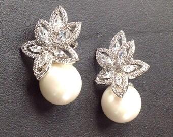 Boucles d'oreilles vintage mariage