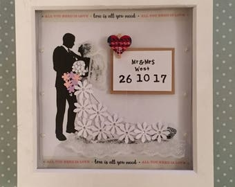 Wedding box frame (Handmade)