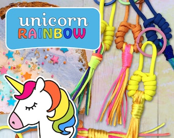 Key fobs- unicorn rainbow