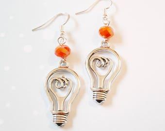"""Earrings original bulbs """"idea"""""""