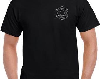 Geometric T-shirt Black