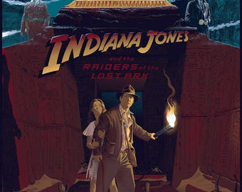 Laurent Durieux, Raiders of the Lost Ark, Indiana Jones, Limited Edition, Print, Art, Screenprint, Variant