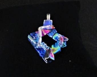 unusual gift, Dichroic glass pendant, unusual glass pendant, art glass pendant, art glass, fused glass pendant, unusual glass jewelry,
