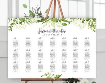 Wedding Seating Chart Template Editable PDF Wedding Table Seating Chart Poster LANDSCAPE Seating Chart Find Your Seat Seating Chart Board