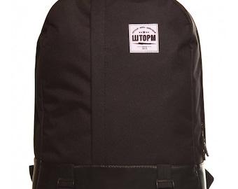 Black Backpack Laptop Backpack Canvas Backpack Mens Backpack Backpack Men Backpack Laptop  Handmade Backpack Eco Vegan Backpack  Rucksack