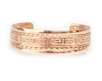Geometric Copper Bracelet for Men and Women (one-size-fits-all)