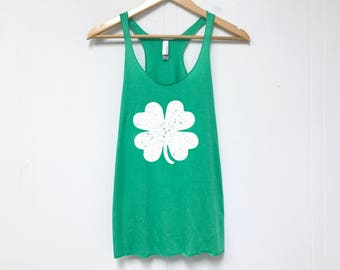 St. Patrick's Day Tank Top. St. Patty's Day Shirt. Funny St. Patrick's Day Shirt. Lucky Shirt. Shamrock Tank. 6733 SHAMROCK GRUNGE