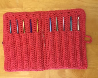 crochet hook case (hooks not included, just to show how it looks with them)