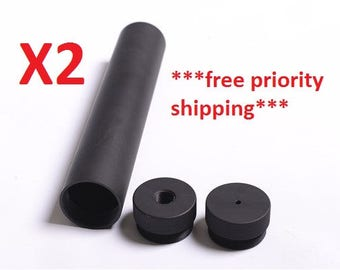 X2  8.25 in D CELL TUBE *free shipping* - Aluminum T6 quality.