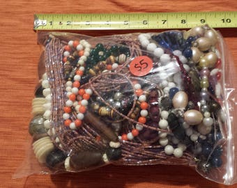 Bag of Jewelry and Beads